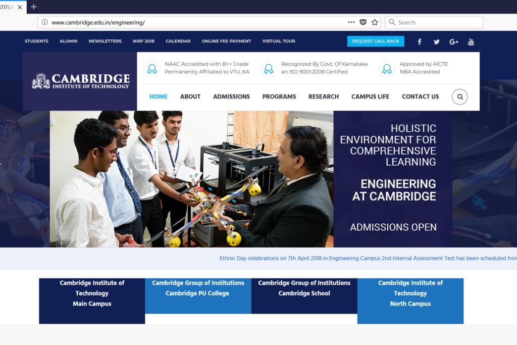 Cambridge Institute of Technology - Batlahalli Prashanth Reddy