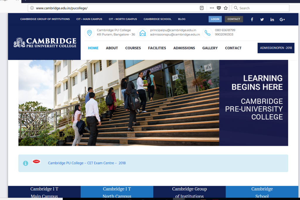 CambridgePUCollege - Batlahalli Prashanth Reddy