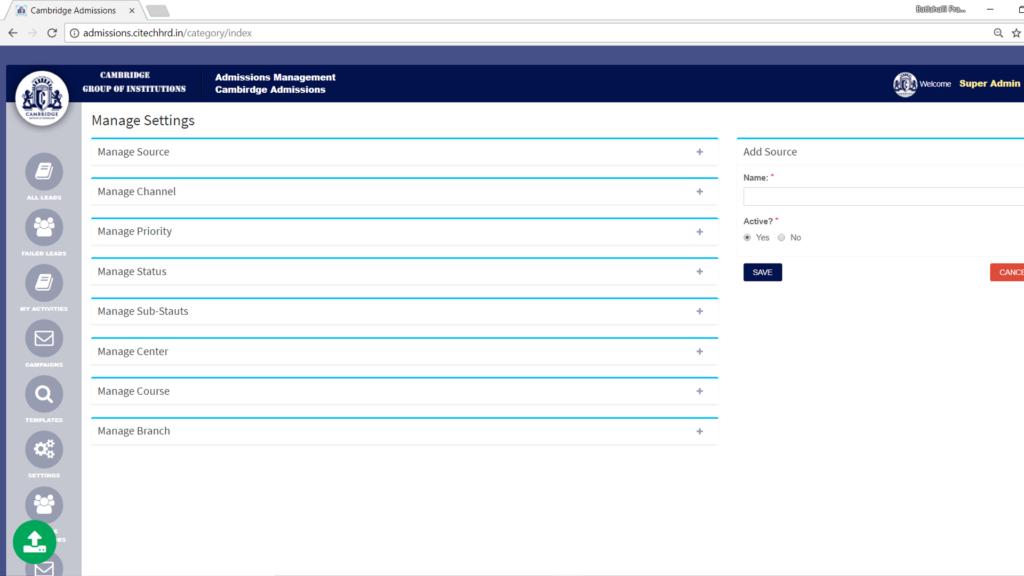 Batlahalli Prashanth Reddy - Admission Management Software